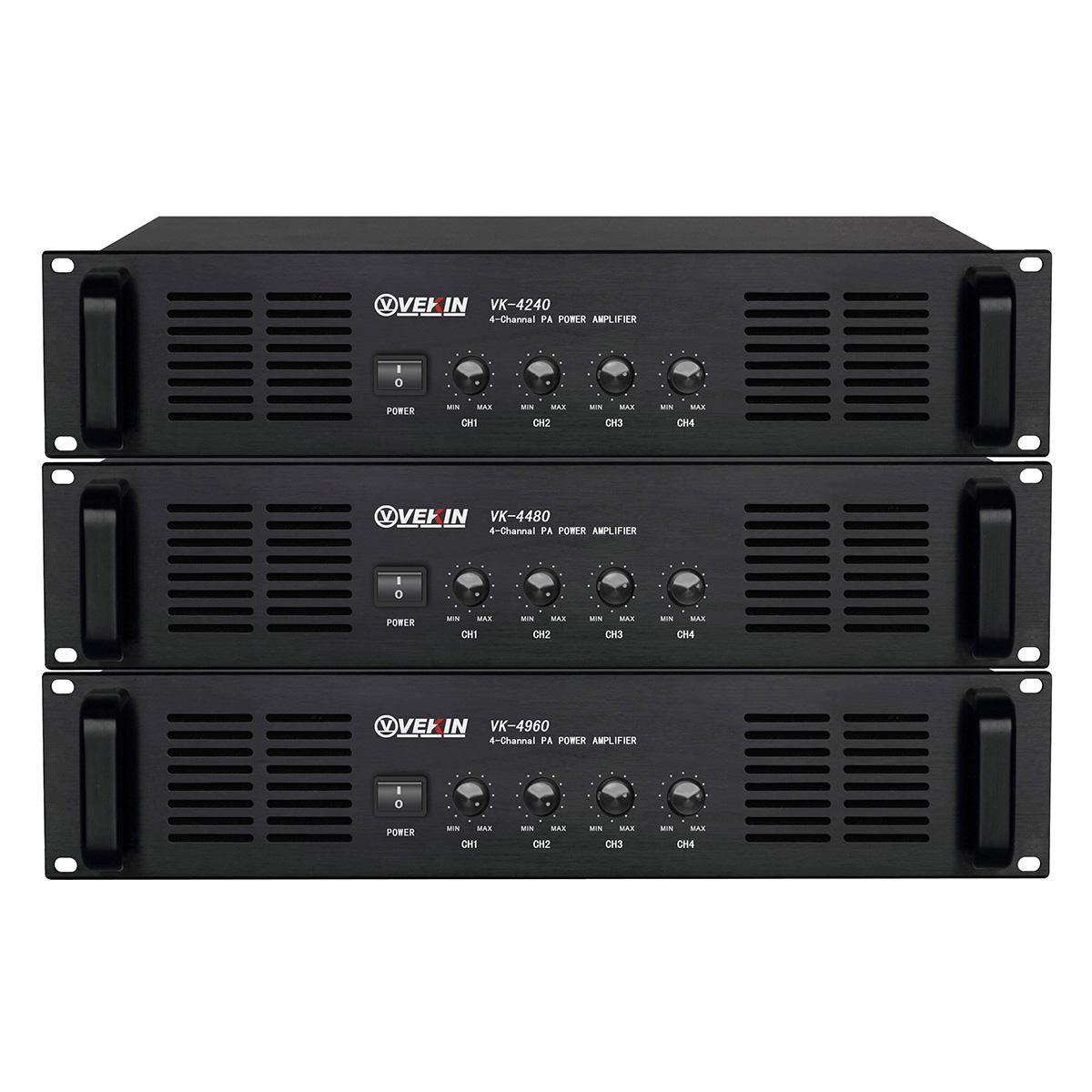 四通道纯后级广播功放 VK-4240 VK-4480 VK-4960