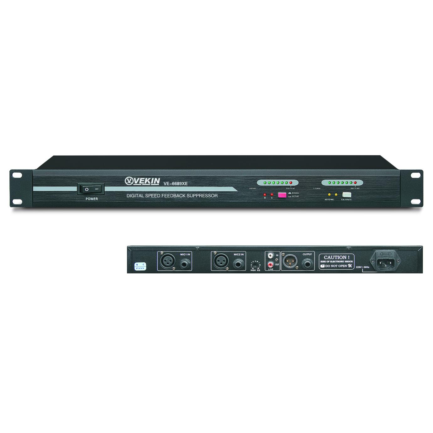 自动防啸叫数字移频器 VE-6689XE
