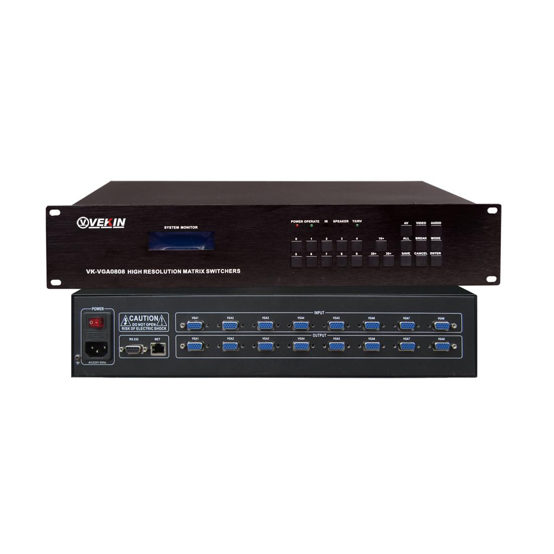 VGA视频矩阵 VK-VGA0808