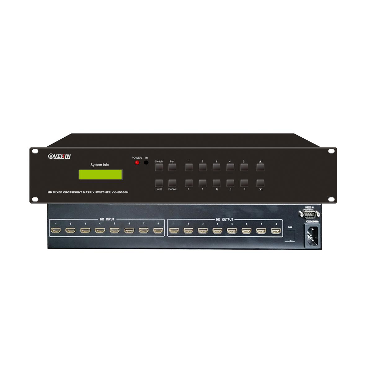 HDMI高清矩阵(8×8) VK-HD0808