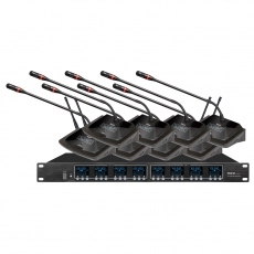 UE-6808 无线会议麦克风(U频) / 一拖八 / 强抗信号干扰
